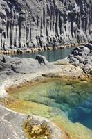 azoren basalt kustlijn in sao jorge. faja do ouvidor. Portugal