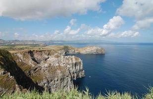 uitzicht over de kust van de azoren