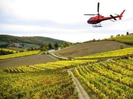 helikoptervlucht in Toscane