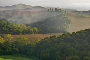 platteland, san quirico, orcia, toscane, italië