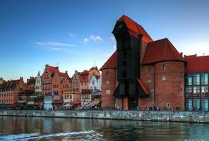 kraan de oude stad in gdansk