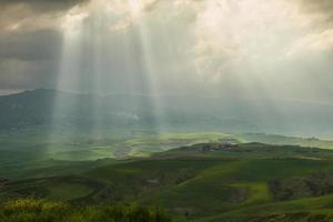 Toscaans landschap dichtbij Volterra (Pisa, Italië)
