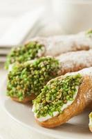 verse zelfgemaakte traditionele cannoli