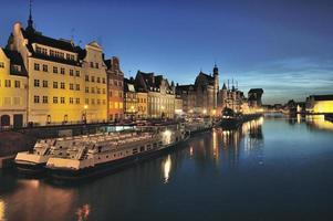 vistula rivier in de historische stad gdansk, polen