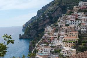 positano dorp, van de kust van amalfi, italië foto