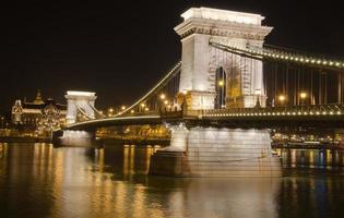 de kettingbrug in Boedapest foto
