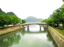 niet-geïdentificeerde toeristen in Trang An