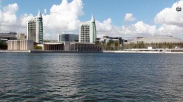 geweldig uitzicht op het park van naties in Lissabon, portugal foto
