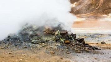 ijsland, geothermisch gebied van hverir.