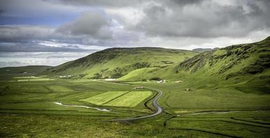 landelijk panorama van IJsland