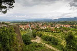 middeleeuwse stad Arezzo, Toscane, Italië