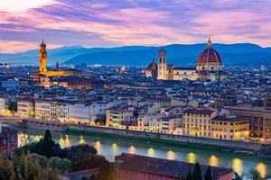 Florence stadsgezicht in Toscane, Italië foto