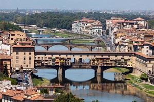 ponte vecchio brug in florence, italië