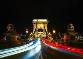 szechenyi-kettingbrug in Boedapest, Hongarije