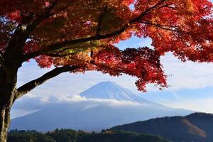 mt fuji en herfstkleuren