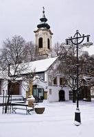 szentendre, hongarije, oude stad in de winter