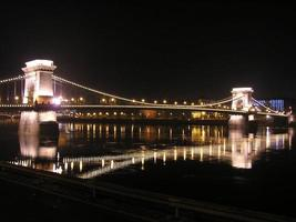 kettingbrug bij nacht, Boedapest
