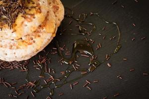 pannenkoeken met honing en ahornsiroop