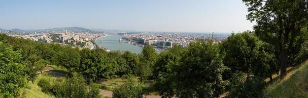 panoramisch uitzicht over boedapest