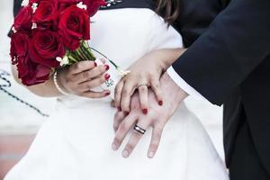 rode bruiloft foto