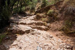 het pad dat leidt naar de psychro-grot. Kreta, Griekenland. foto