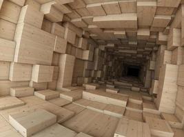 houten constructie foto