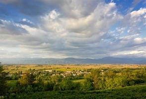zicht op Friuli's vlakte bij Buttrio