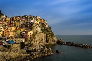 uitzicht op Manarola dorp op Cinque Terre, Italië
