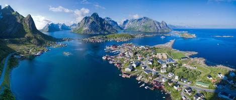 luchtfoto panorama van noorwegen foto