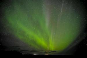 aurora borealis in ijsland foto