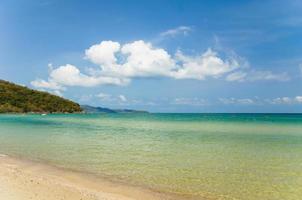 tropisch strand gedurende de dag