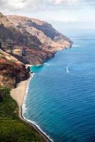 luchtfoto van een kustlijn
