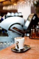 cappuccino-kop foto