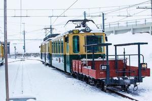 treinstation in de Zwitserse Alpen. jungfrau, Zwitserland. mountai