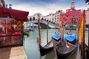 groot kanaal van Venetië en gondel