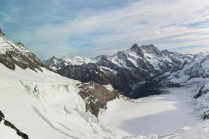alpine alpen berglandschap op jungfraujoch, top van europa zwitserland