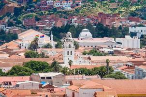 stadsgezicht van sucre, bolivia