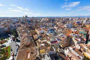 valencia luchtfoto skyline met plaza de la reina spanje foto