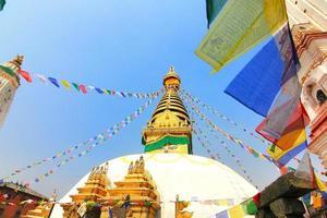 uitzicht op swayambhunath, kathmandu, nepal foto