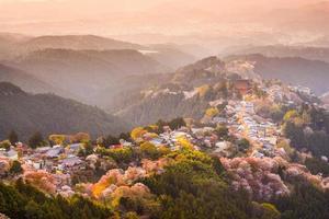 yoshinoyama, japan in het voorjaar foto