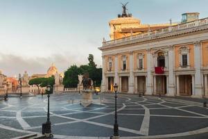 campidoglio-plein in rome, Italië foto