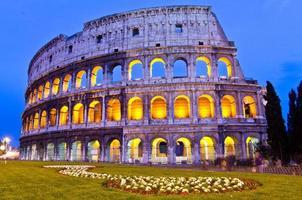 colosseum 's nachts, rome, italië