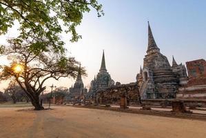 wat phra sri sanphet, werelderfgoed, ayutthaya, thailand foto