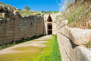 schatkamer van atreus in mycene, griekenland foto