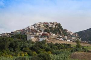 moulay idriss in de buurt van roman volubilis, marokko