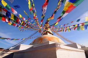 boudhanath, buddha stupa, een werelderfgoed, kathmandu, nepal