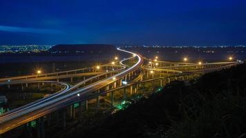 nacht uitzicht op uitwisseling foto