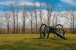 kanon op het nationale slagveld van monocacy foto