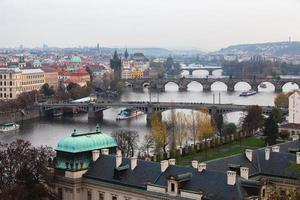 zicht op praag, de bruggen over de Moldau