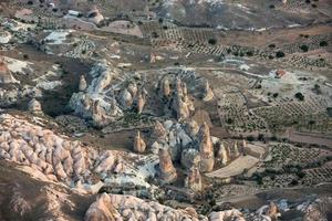 de zonsopgang boven Cappadocië foto
